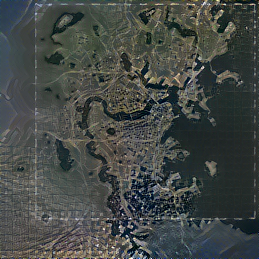 Output of Fallout 4 map plus Boston satellite imagery