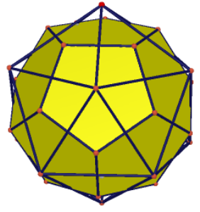 Image of biggest dodecahedron inside  icosahedron